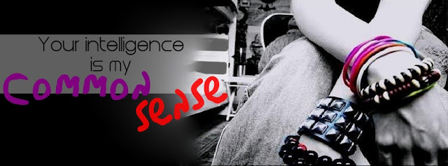 YOUR INTELLIGENCE IS MY COMMON SENSE PROFILE FACEBOOK COVERS - Facebook timeline attitude