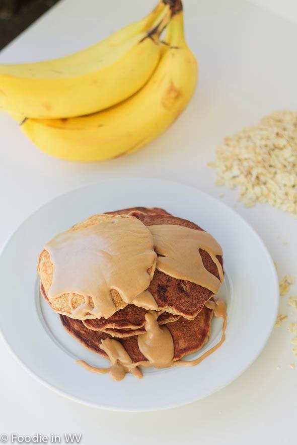 Gluten Free Banana Oatmeal Pancakes | Foodie in WV