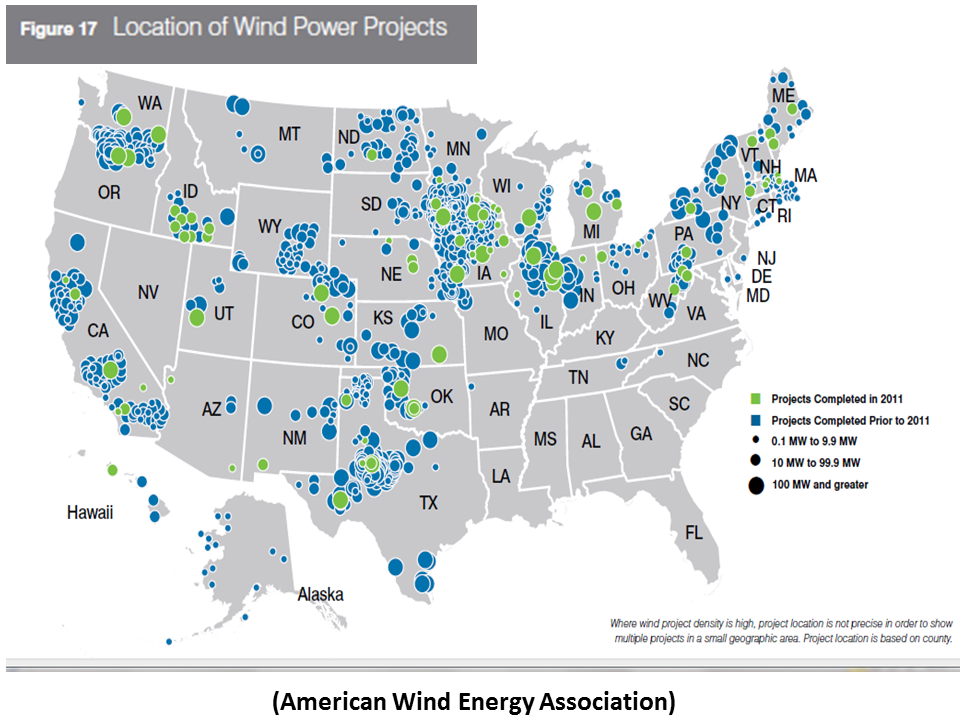 U S Wind Power Capacity Growth In 2011