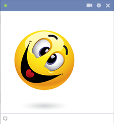 Jolly emoticon for Facebook