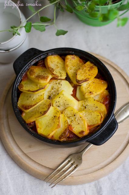 Chili con carne zapiekane z ziemniakami