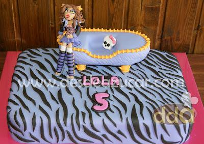Clawdeen Wolf, monster high, MSC, tarta fondant, tarta, tarta de Clawdeen Wolf, tarta de monster high, tarta fondant, tarta fondant Sevilla,