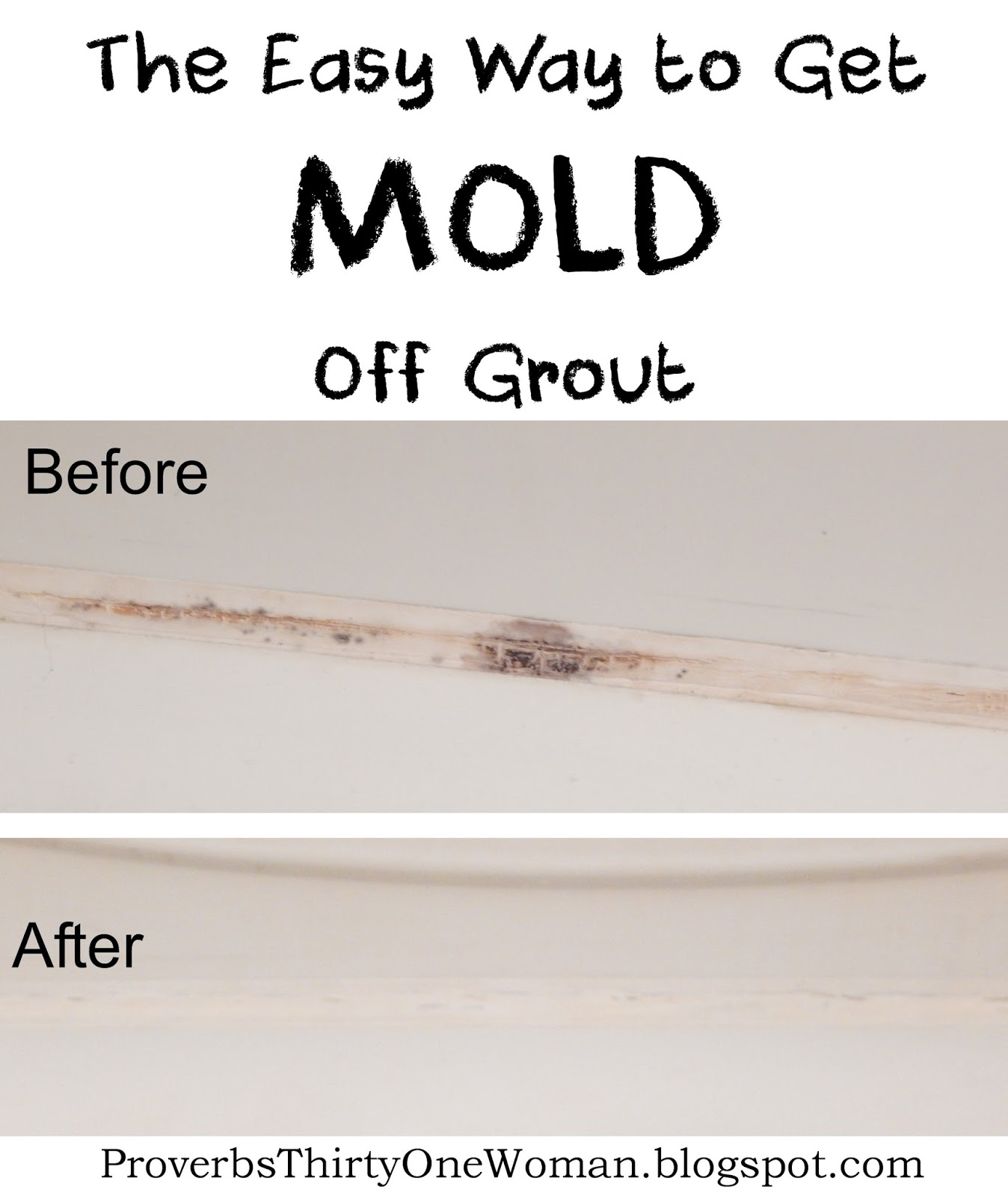 how to get mould out of grout