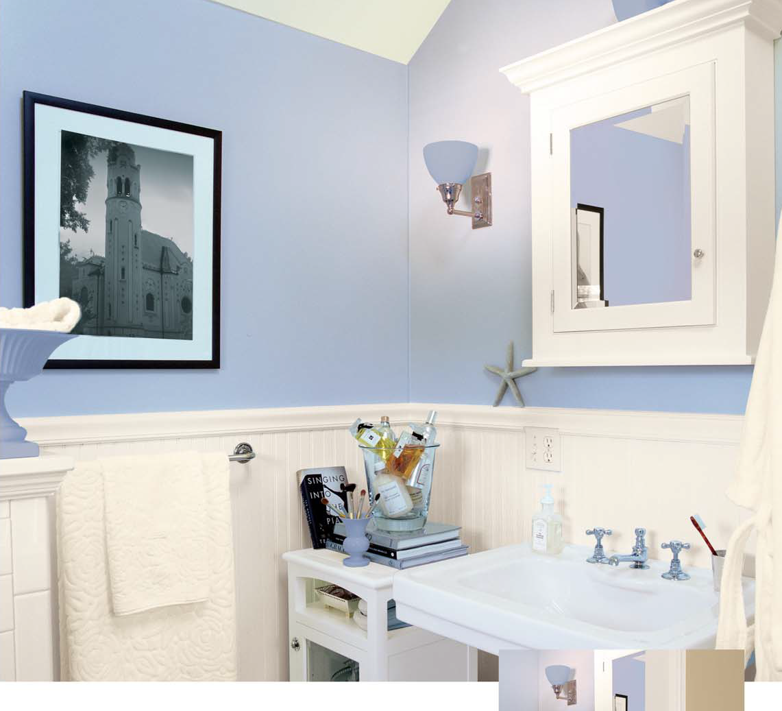 First time diy bathroom ideas for Wainscoting bathroom ideas