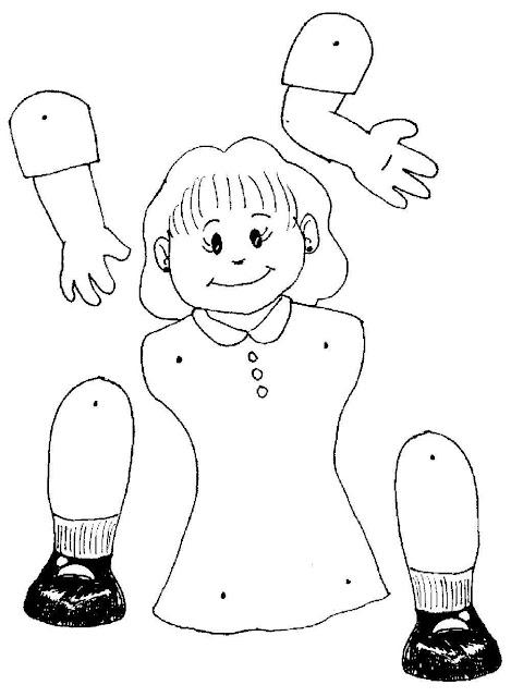 Cuerpo humano para colorear y armar - Imagui
