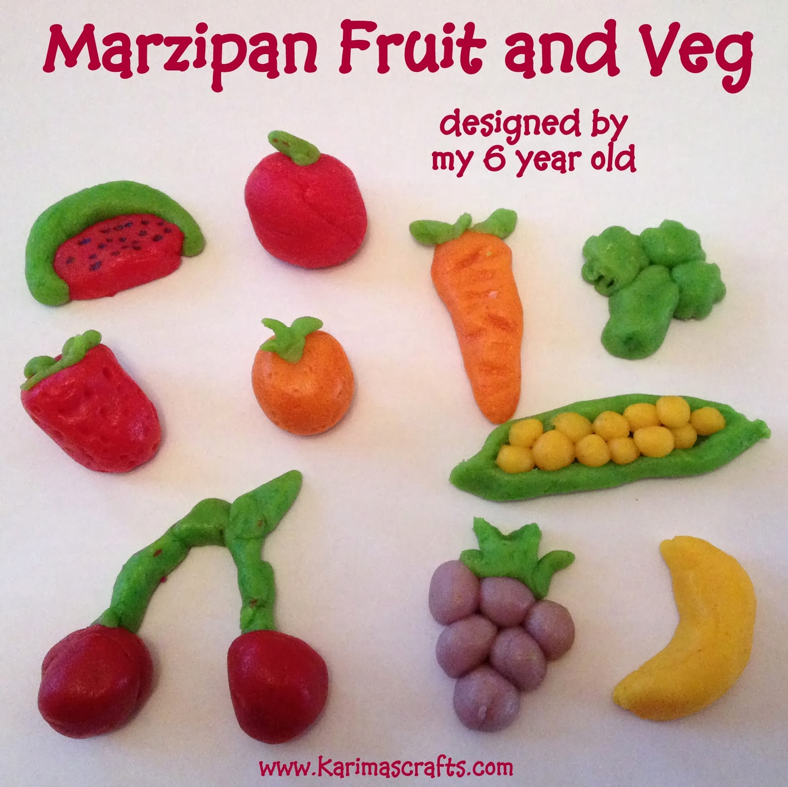 fun marzipan crafts fruit veg
