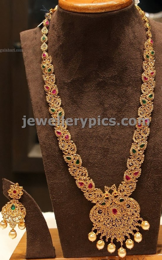 rose cut diamond long chain by manepalli jewellers 2014 wedding collection
