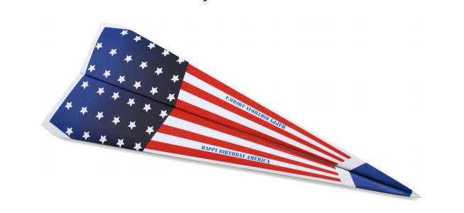 image relating to Paper Airplane Printable known as Deliver a Patriotic Paper Aircraft Totally free Printable Template