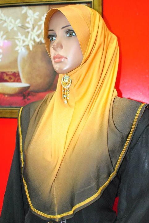 C Qyn Collection Tudung Ala Ariani 3 Tone Saiz L