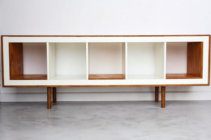 http://www.ikeahackers.net/2013/10/ex-ikea-upright-bookcases-now-mid-century-modern-sideboards.html