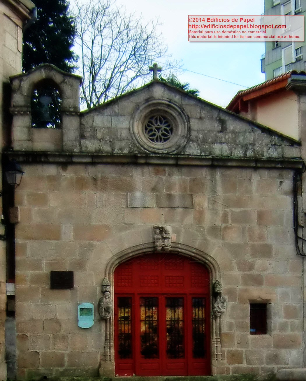 Front façade of Saints Cosmas and Damian Chapel