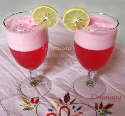 easy steps to cook mocktail, lemon mocktail, pink mocktail, easysteps2cook