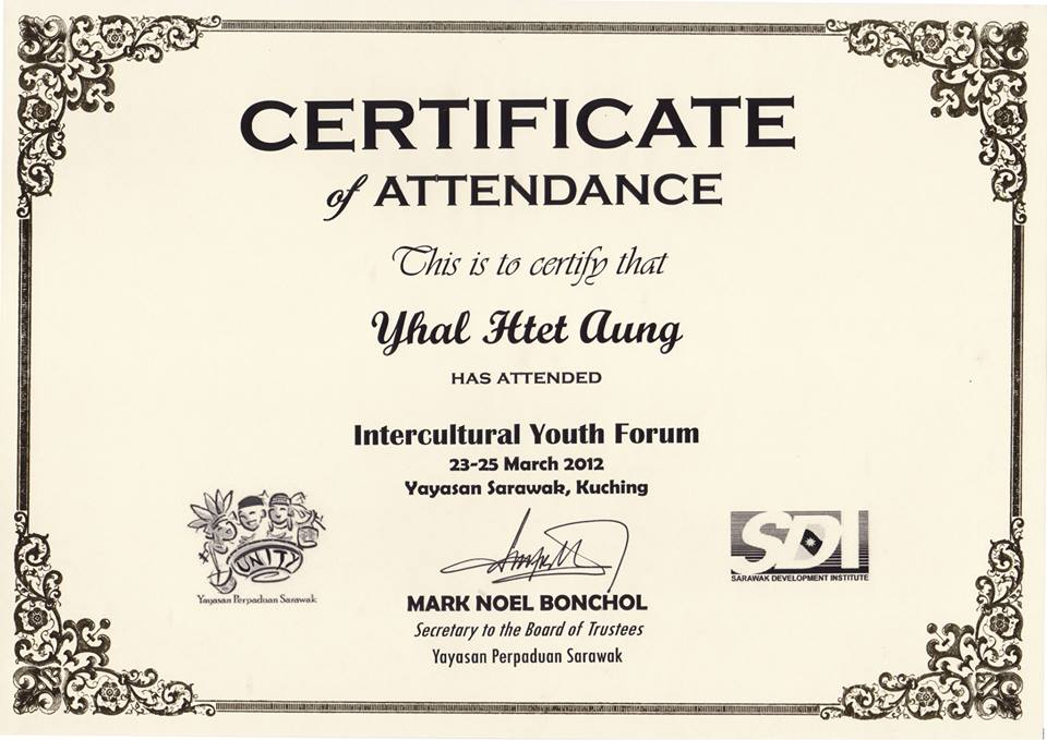 Certificate in Intercultural Youth Forum