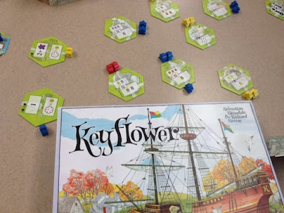 Keyflower board game during play