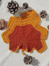 Hoja de Otoño a crochet