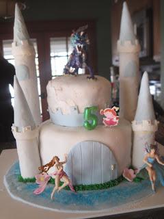 Castle Cake tutorial Fairy Party
