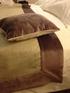 Adding a custom made end of bed throw compliments your padded headboard from Bedhead Design and gives your bedroom a tailored look.