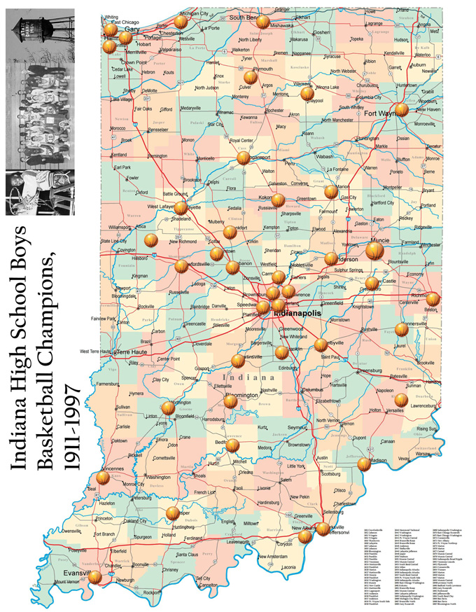GIS Research And Map Collection Indiana High School Boys