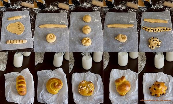 bollos de calabaza y leche condensada