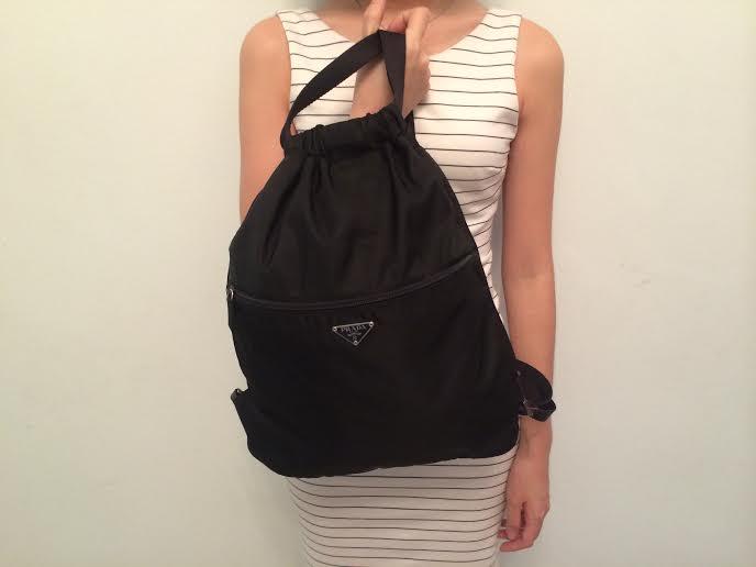 prada small - prada tessuto backpack, prada saffiano lux messenger bag