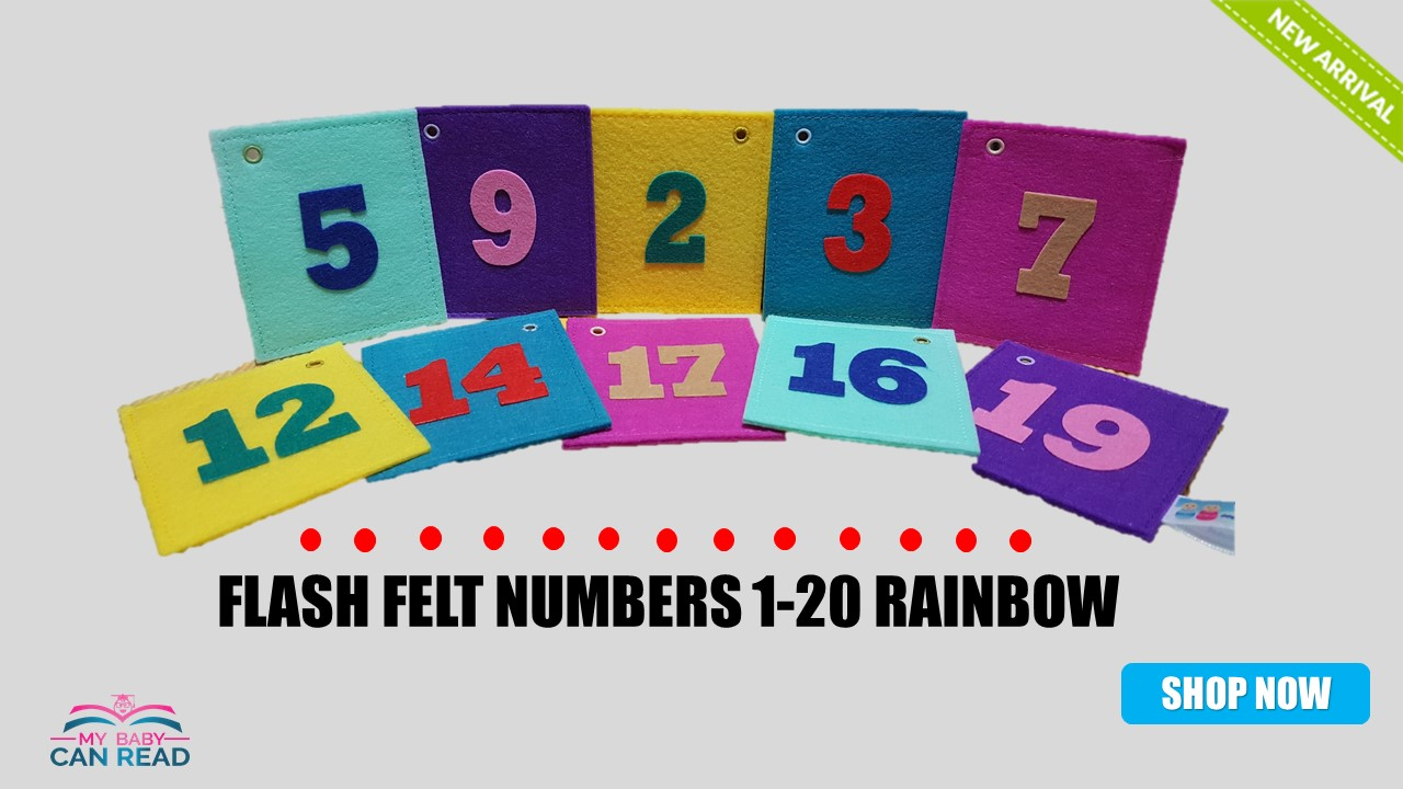 Flash Felt Numbers