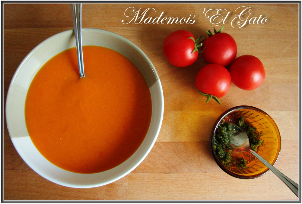 Mademois 39 el gato soupe glac e de tomate - Soupe de tomate maison ...