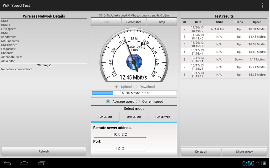 how to test if download speed is congested with use