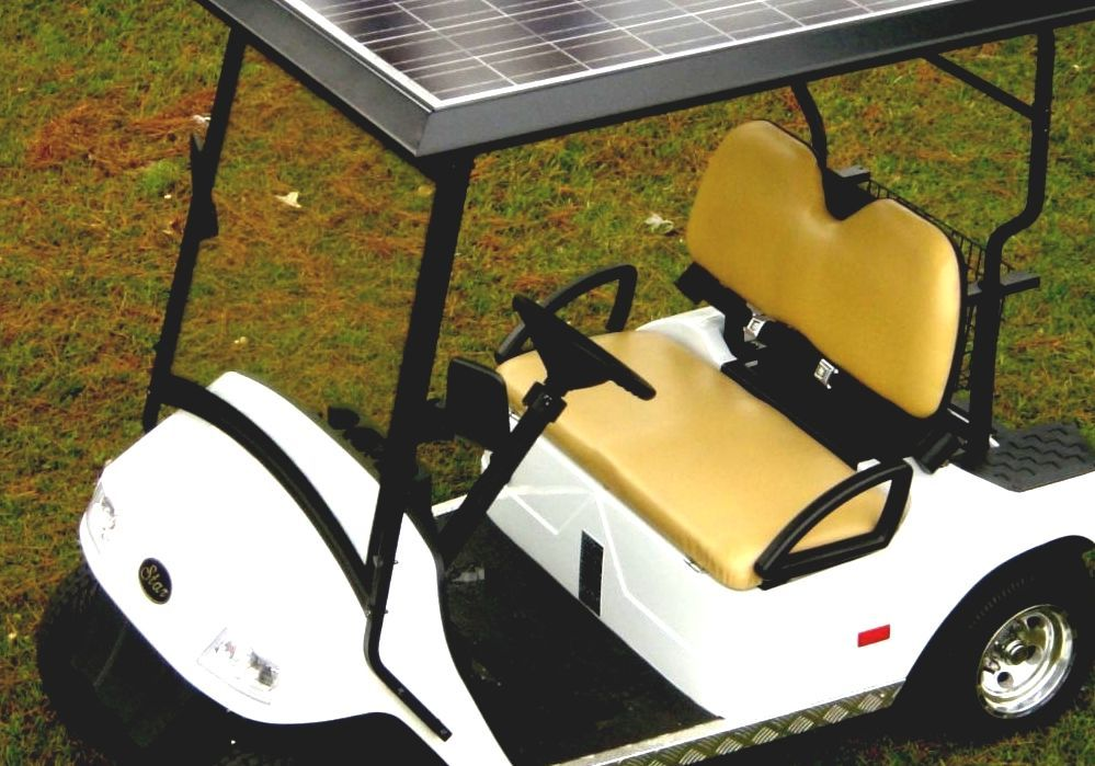 Solar Golf Cart - Solar Panel For Golf Cart on maleficent golf cart, unicorn golf cart, ghostbusters golf cart, predator golf cart, gnome golf cart,