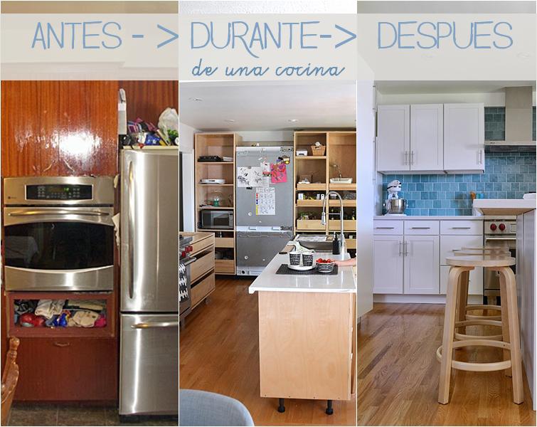 Antes y despu s de una cocina decoraci n for Cocinas antes y despues
