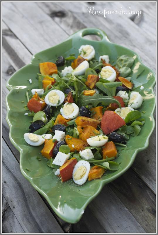 Potimarron en salade blogs de cuisine - Cuisiner un potimarron ...