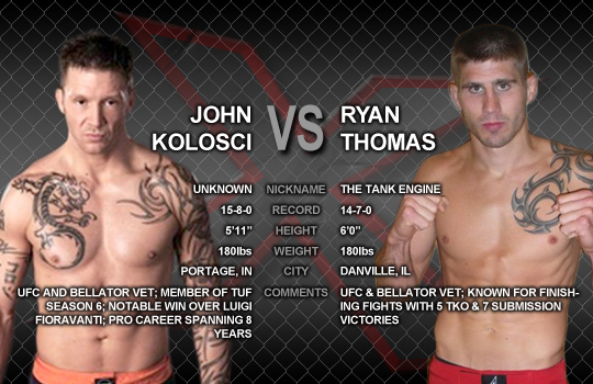 Ryan Thomas vs. John Kolosci