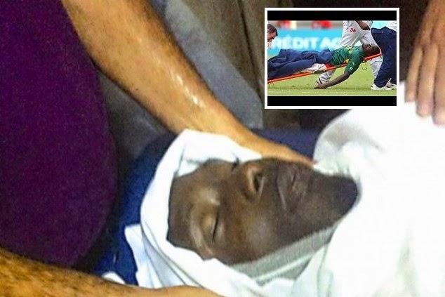Pemain bola terbunuh di baling batu ketika perlawanan