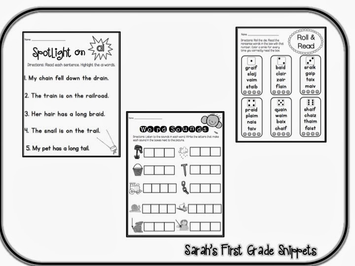 Sarah S First Grade Snippets Vowel Teams Rti And A New Blog Design