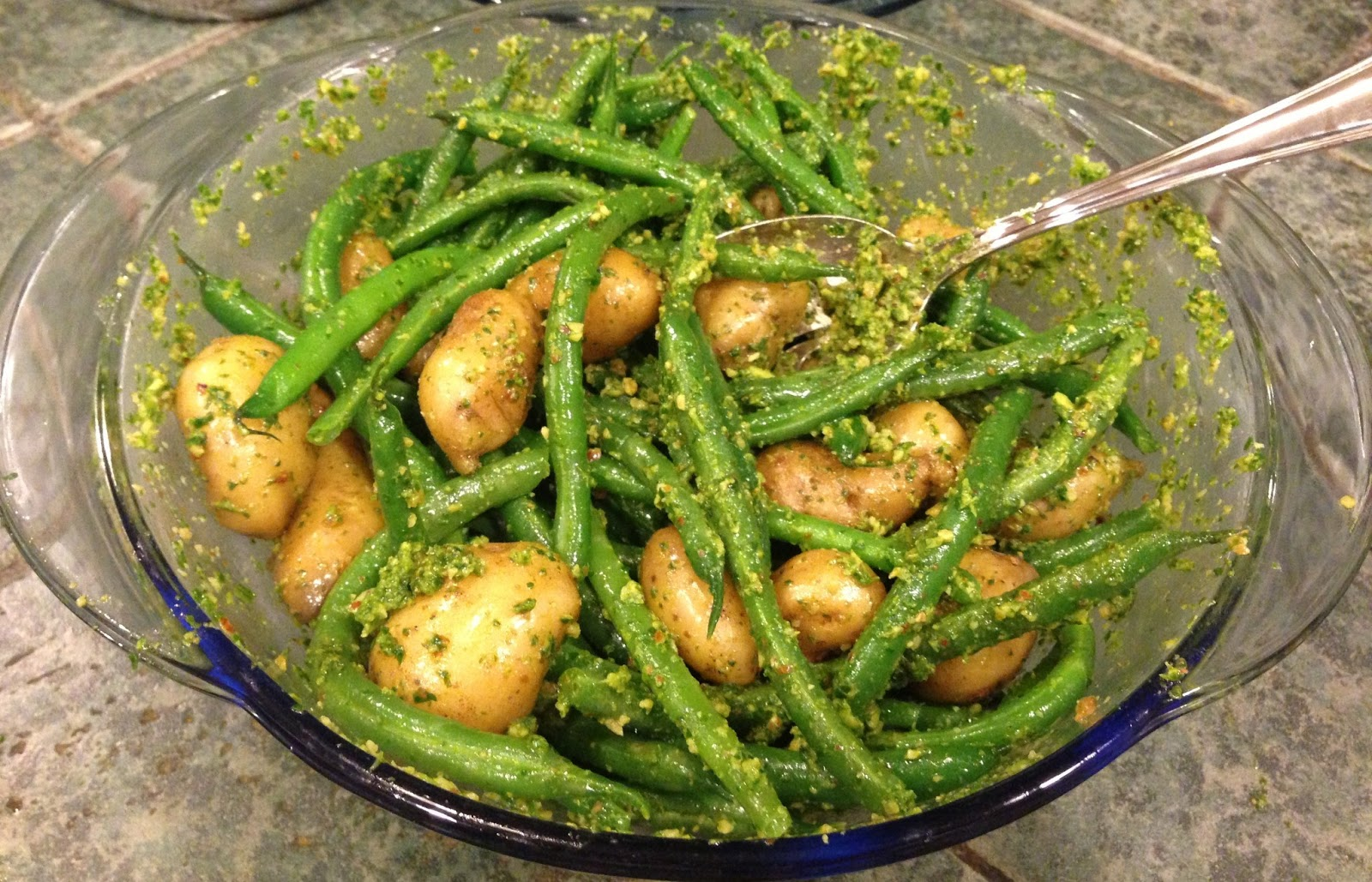 Potato And Green Bean Salad With Arugula Pesto Recipe ...