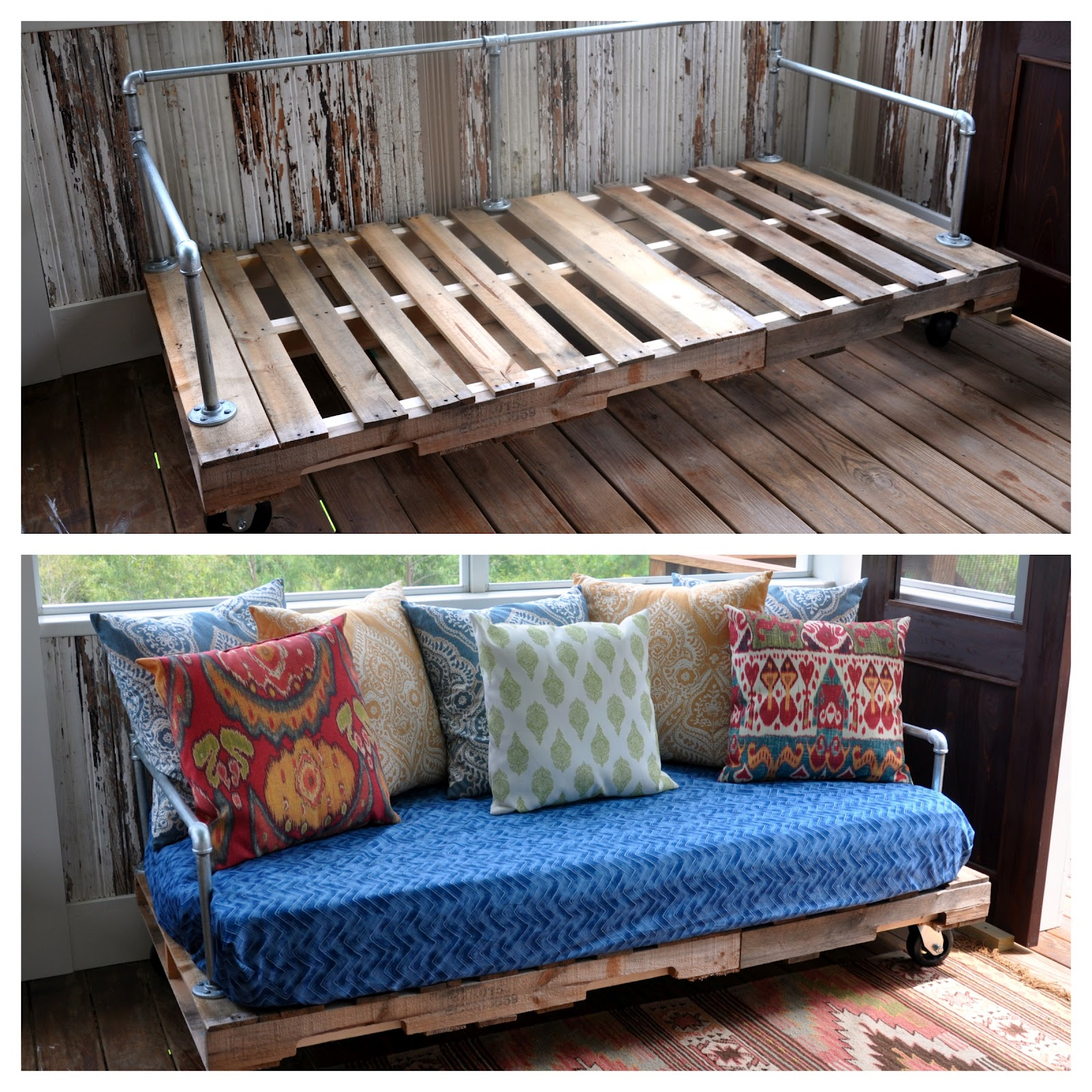 My First Pinterest Project Pallet Couch Fishsmith3 39 S Blog