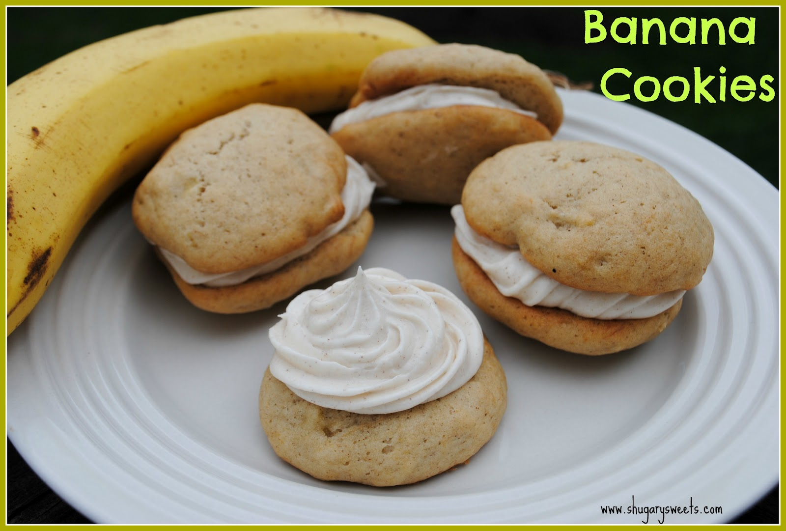 Banana Cookies - Shugary Sweets