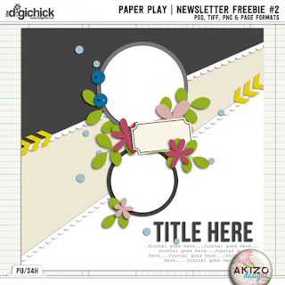 Paper Play News Letter Freebie2 by Akizo Designs