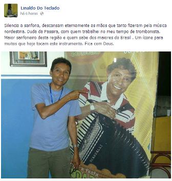 Uma nova perca para Pernambuco e mais uma sanfona se cala.