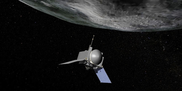 Artist's rendering of NASA's OSIRIS-REx mission. Credit: NASA