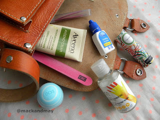 photo of products in handbag