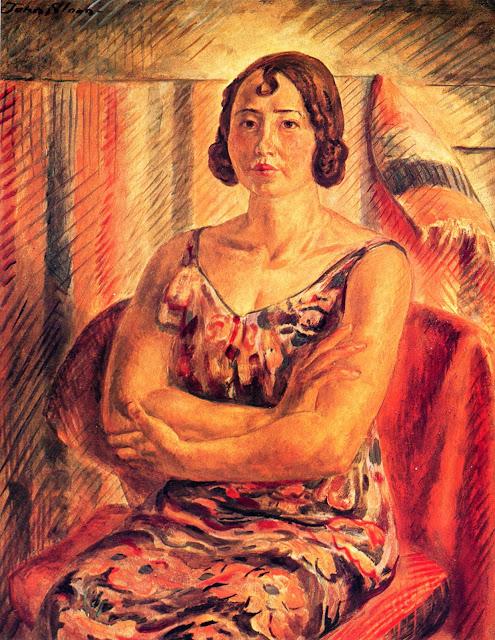 1930 Juanita Tempera on panel