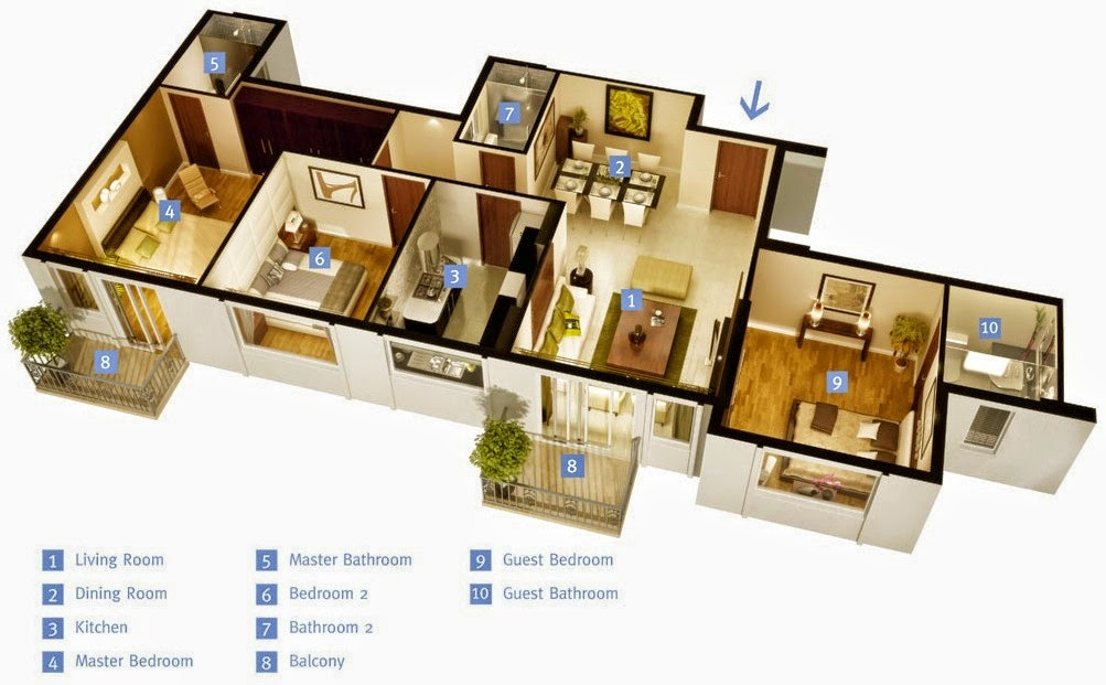 50 efficient and spacious house plans for Spacious house plans