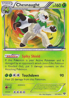 Chesnaught Pokemon XY Card