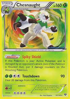 Chesnaught Pokemon XY Card
