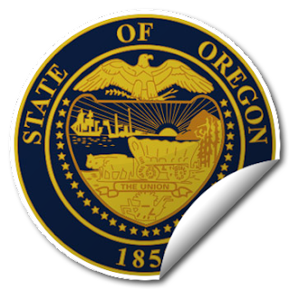 Sticker of Oregon Seal