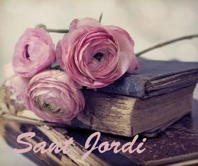Rosas rosas y libro Rosas para Sant jordi