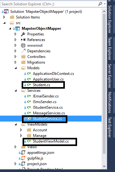 How to use Object Mapper Mapster in Asp Net 5 or MVC 6 ~ Full Stack