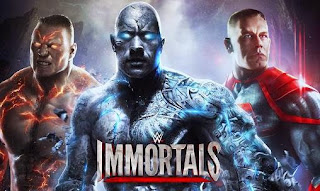 Screenshots of the WWE Immortals for Android tablet, phone.