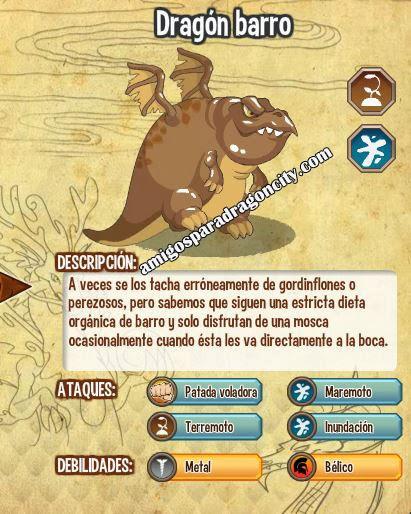 todas las caracteristicas del dragon barro
