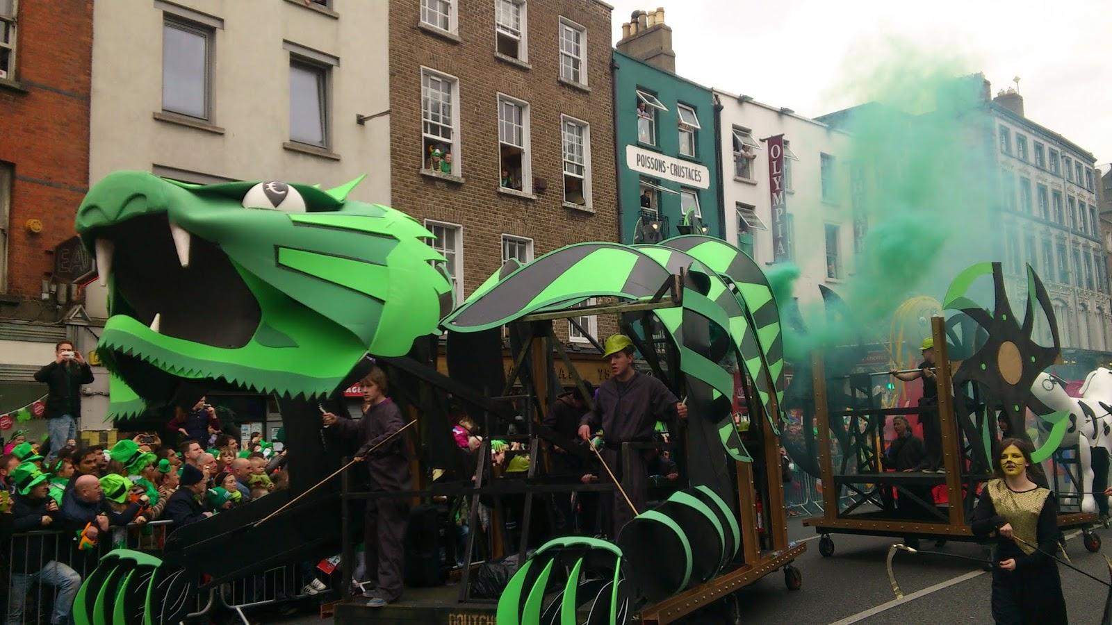Espectáculo.Desfile de San Patricio en Dublín